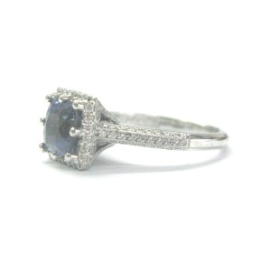 Tacori Platinum Gem Sapphire Diamond Jewelry Ring