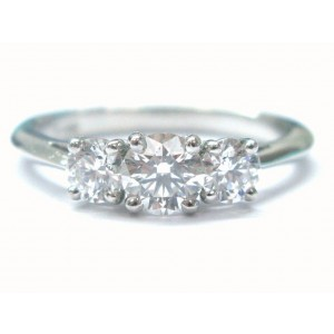 Tiffany & Co. Platinum 3 Stone Diamond Engagement Ring