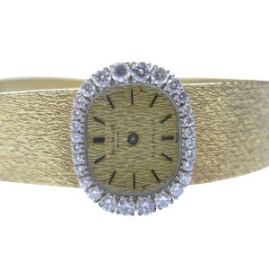 Tiffany & Co Yellow Gold 1.30CT 18Kt Patek Philippe Diamond Watch