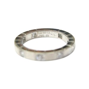 Cartier 18K White Gold Lanieres Diamond Wedding Band Ring