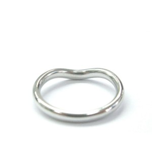 Tiffany & Co. Elsa Peretti Platinum Curved Diamond Wedding Band Ring