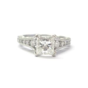 TACORI Platinum Princess Cut Diamond Engagement Ring