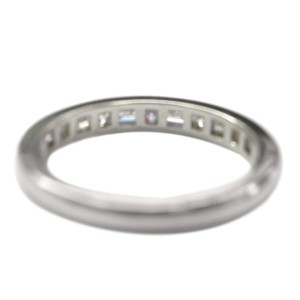 Tiffany & Co. PT950 Platinum with 0.86ct Diamond Band Ring Size 10.25