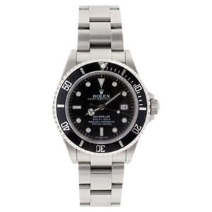 Rolex Sea Dweller 16600 Stainless Steel Black Dial Black Bezel Mens Watch