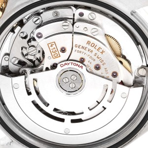 Rolex Daytona Yellow Gold Steel MOP Diamond Watch 116523 Box