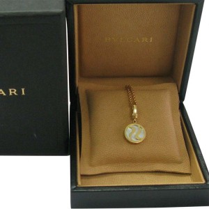 Bulgari 18K Yellow Gold Mother Of Pearl Optical Pendant Necklace