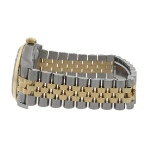Rolex Datejust 116203 Stainless Steel & 18K Gold Black Stick Dial Mens Watch