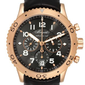 Breguet Type XXI Flyback 18K Rose Gold Chronograph Mens Watch 3810BR