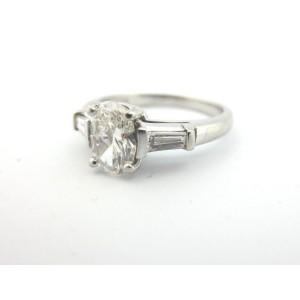 Tiffany & Co. Platinum and Diamond Engagement Ring Size 4.5