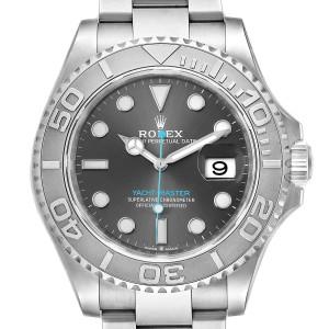 Rolex Yachtmaster Rhodium Dial Steel Platinum Mens Watch