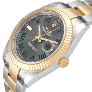 Rolex Datejust 41 Steel Yellow Gold Wimbledon Mens Watch