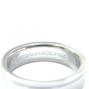 Tiffany & Co. Platinum Milgrain Wedding Band Ring Size 7.5