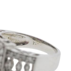 18K White Gold Ruby & Diamond Vintage Style Ring