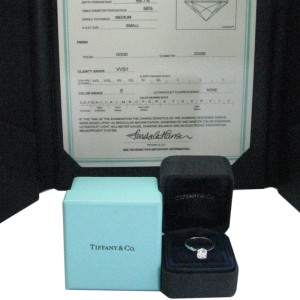 Tiffany & Co. PT950 Platinum with 0.87ct Diamond Engagement Ring Size 5