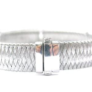 Roberto Coin 18K White Gold Diamond Silk Weave Bracelet