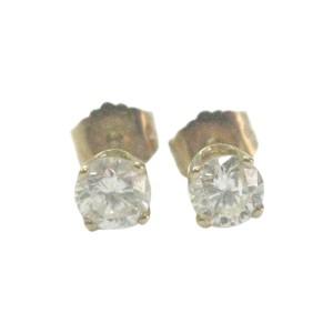Yellow Gold & Diamond Stud Earrings