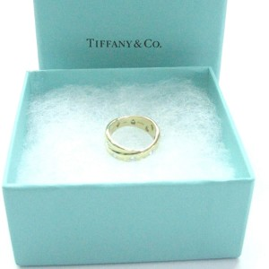 Tiffany & Co. Etoile 18K Yellow Gold and PT950 Platinum with 0.35ct Diamond Ring Size 5.5