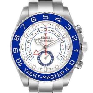 Rolex Yachtmaster II 44 Blue Cerachrom Bezel Mens Watch 116680 Box Card