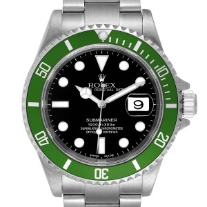 Rolex Submariner Flat 4 Green 50th Anniversary Watch