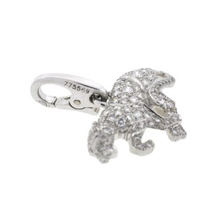 Cartier Panthere Panther 18K White Gold Diamond Charm Pendant