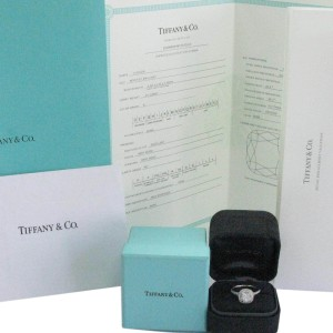 Tiffany & Co. 950 Platinum with Diamond Soleste Engagement Ring Size 4.5