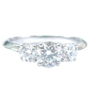 Tiffany & Co. Platinum 1.03ct. Diamond Engagement Ring Size 5.25
