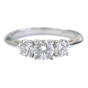 Tiffany & Co. PT950 Platinum with 0.76ct Diamond Engagement Ring Size 6