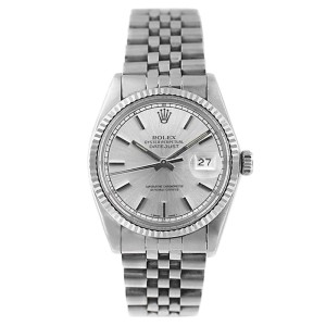 Rolex Datejust 16014 Stainless Steel Silver Stick Dial Mens Watch