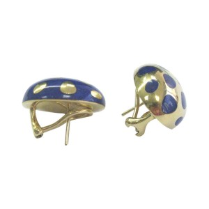 Tiffany & Co. Positive Negative 18K Yellow Gold with Lapis Earrings