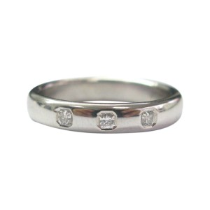 Tiffany & Co. PT950 Platinum with 0.15ct Lucida Diamond Band Ring Size 8.5