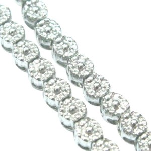 Fope Gioielli 18K White Gold Diamond Circular Cluster Tennis Necklace