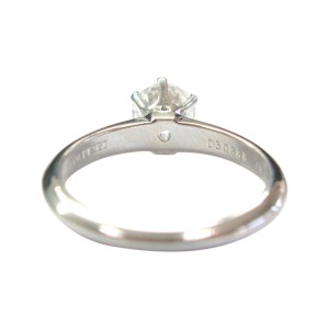 Tiffany & Co. PT950 Platinum with 0.70ct Solitaire Diamond Engagement Ring Size 5.5