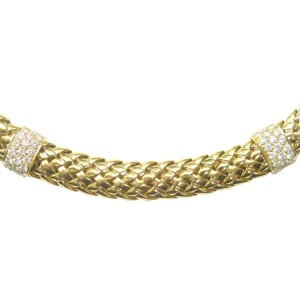 Tiffany & Co. Vannerie 18K Yellow Gold & 2.44ct Diamond Necklace