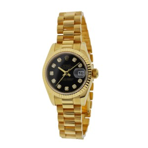 Rolex 179178 President 26mm 18K Yellow Gold Factory Diamond Dial Watch