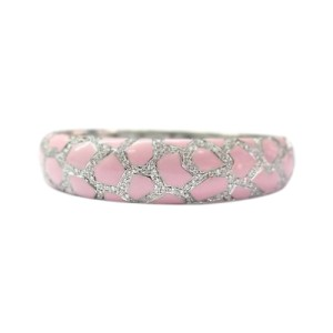Roberto Coin 18K White Gold, Pink Enamel & 1.90ct Diamond Bracelet