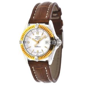 Breitling Callistino D52045 Ladies Two Tone Leather Quartz Watch