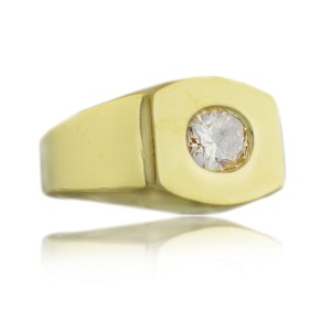 David Webb 18K Natural Pink Oval Diamond Ring