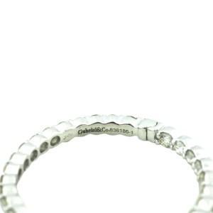 Gabriel & Co. 14K White Gold Diamond Inside Out Hoop Earrings