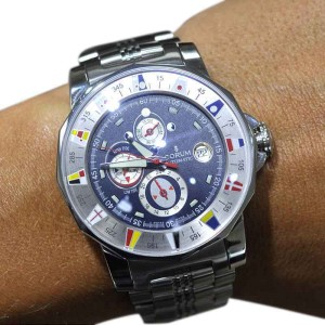 Authentic Corum Admirals Cup 44 Stainless Steel Men's Watch 977.630.20