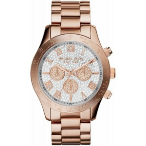 Michael Kors MK5946 Chronograph Layton Rose Gold-Tone Stainless Women's Watch 43mm