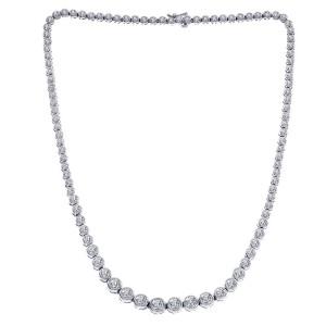 14K White Gold 10.00 ct. Diamond Necklace