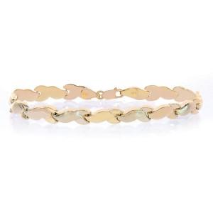Avital & Co. 14K Yellow Gold Fancy Wave Link Bracelet