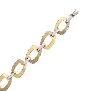 Avital & Co. 14K Two Tone Gold Sleeve Toggle Link Bracelet