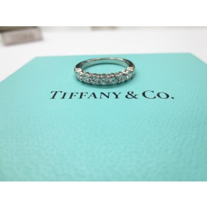Tiffany & Co. Platinum with 0.56ct. Diamond Shared Setting Wedding Band Ring Size 5