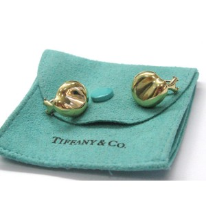 Tiffany & Co Elsa Peretti 18K Yellow Gold Bean Huggie Earrings