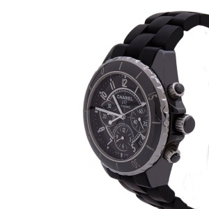 Chanel J12 Black Ceramic Chronograph Black Dial Automatic 38mm Women's Watch