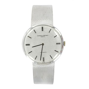 Vintage Vacheron & Constatin 446196 18K White Gold Automatic Mens Watch