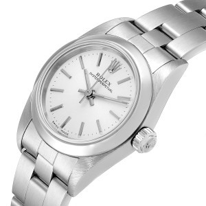 Rolex Oyster Perpetual Silver Dial Steel Ladies Watch 76080