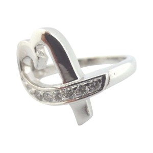 Tiffany & Co. 18K White Gold Paloma Picasso Heart Diamond Ring
