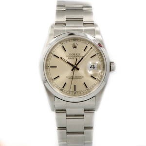 Rolex Date Just 16200 Silver Dial Stainless Steel Date Automatic Men's Watch